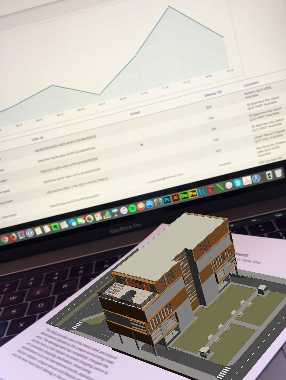 Augmented Reality Building with Reports