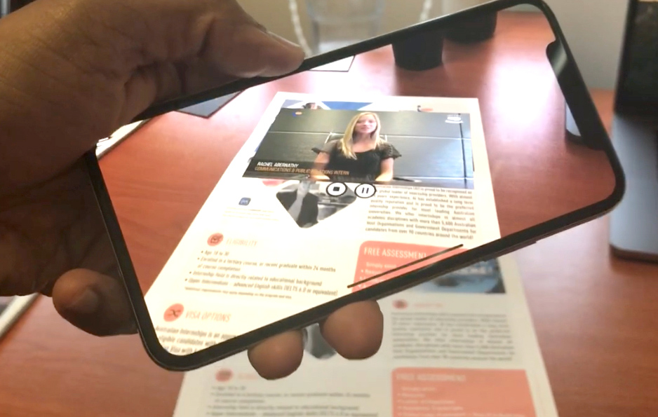 Internships Australia – Augmented Reality Flyer