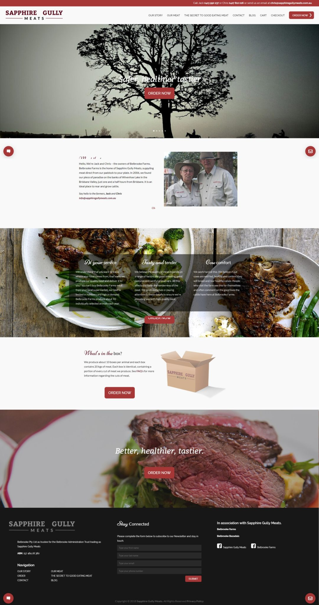 Sapphire Gully Meats – Website & Digital Marketing