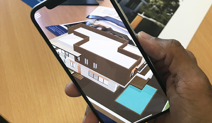 3d renders house ar